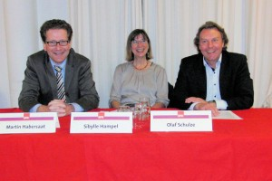 Martin Habersaat, Sibylle Hampel und Olaf Schulze