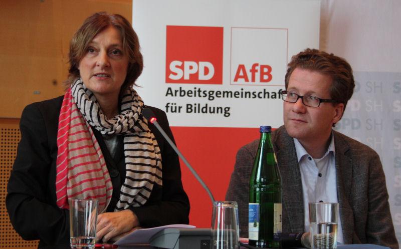 2014: Britta Ernst und Martin Habersaat, Britta Ernst stellt ihre Schwerpunkte vor