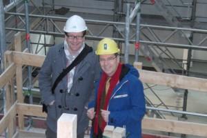 Mit Prof. Münchau im CBBM