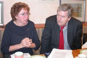 Foto: Willi Piecyk 2004 mit Ina Ahlrichs bei einer Veranstaltung in Barsbüttel