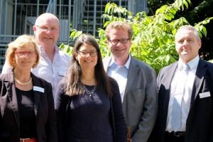 Foto: v.l.: Knigge, Hein, Scheer, Habersaat, Pommerenke