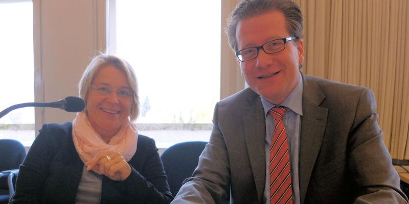 Kristin Alheit und Martin Habersaat