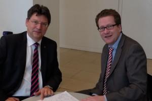 Reinhard Meyer und Martin Habersaat