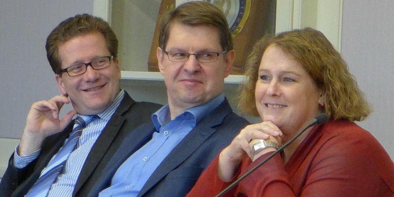 Foto: Martin Habersaat, Ralf Stegner und Katrin Fedrowitz