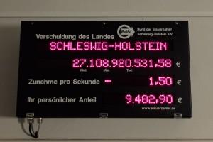 Foto: Schuldenuhr 2017