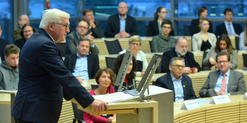 Frank-Walter Steinmeier am 19. Januar 2017 in Kiel