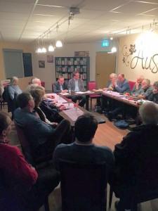 Diskussionsrunde im Bürgerhaus