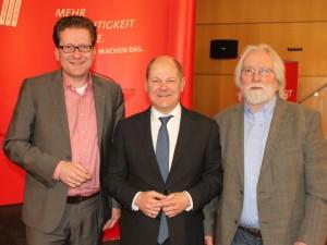 Martin Habersaat, Olaf Scholz und Frank Lauterbach (Glindes stv. Bürgermeister)