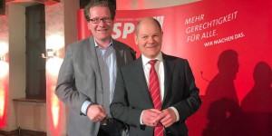 Martin Habersaat und Olaf Scholz