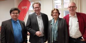 Oliver Jäger, Martin Habersaat, Britta Ernst, Wolfgang Jurksch