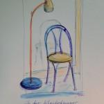 Lampe und Stuhl