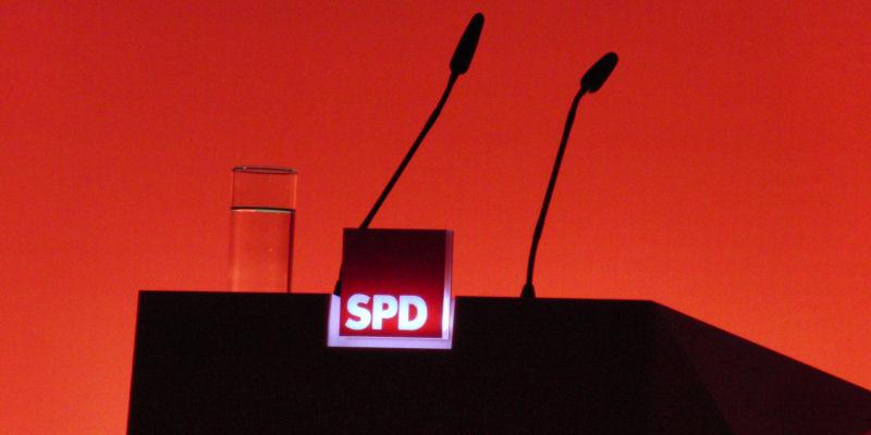 Rednerpult SPD