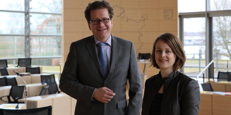 Martin Habersaat und Lara Gruwe