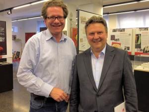 "Martin Habersaat und Michael Ludwig im Museum ""Rotes Wien"""