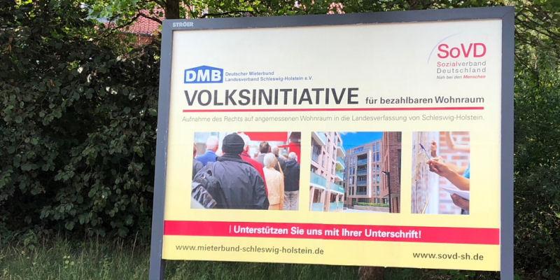 Volksinitiative - Plakat in Mölln