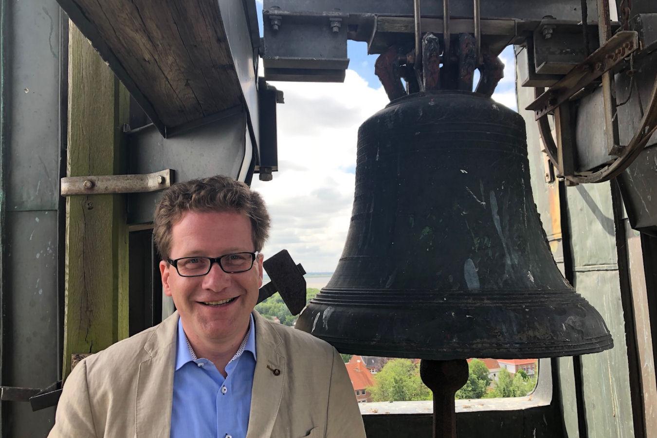 Martin Habersaat im Glockenturm