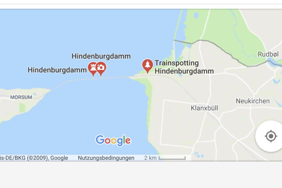 Hindenburgdamm - Google Maps