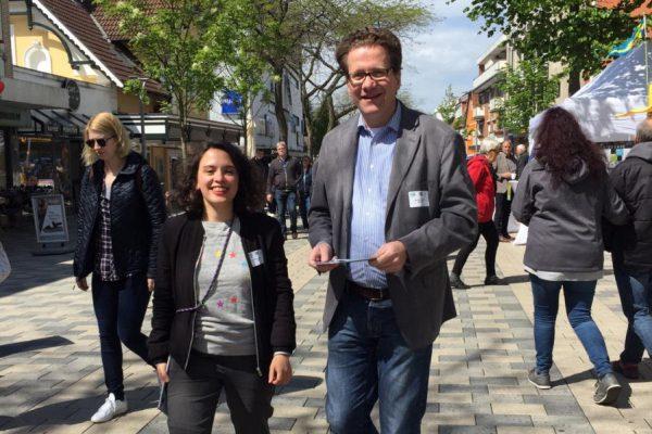 Delara Burkhardt und Martin Habersaat 2019 in Geesthacht
