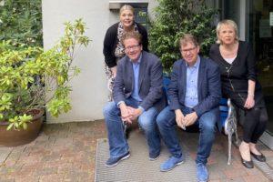 Foto: Britta Poburski, Martin Habersaat, Ralf Stegner, Birgit Poburski