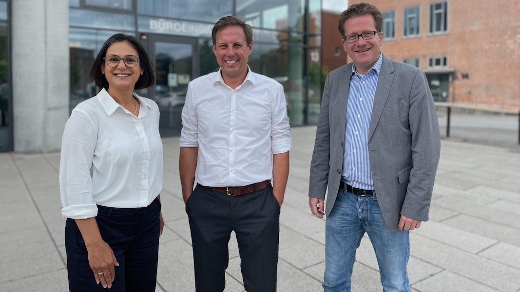 Serpil Midyatli, Thomas Losse-Müller und Martin Habersaat