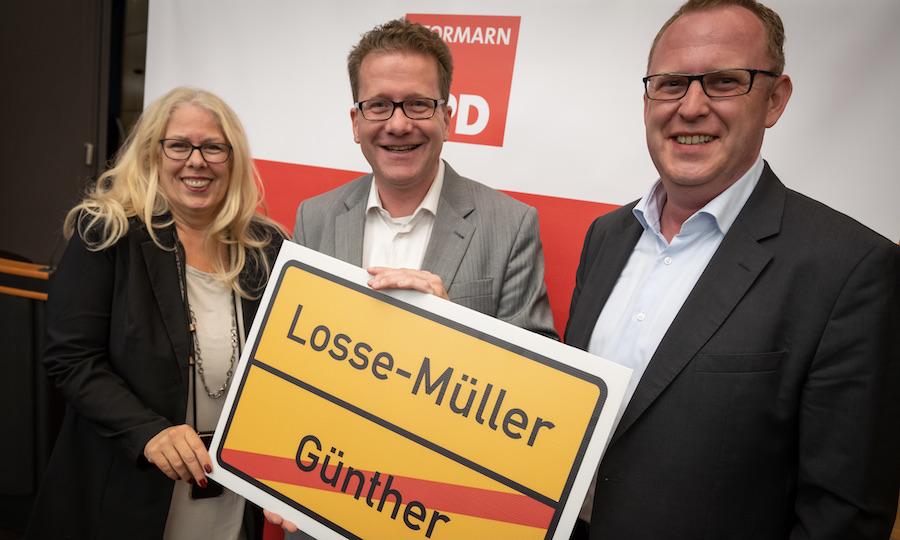 Marion Meyer, Martin Habersaat und Ole Thorben Buschhüter